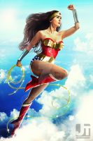 Wonder Woman in Flight by jaytablante