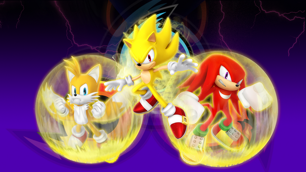 Super Sonic Heroes Wallpaper by Nibroc-Rock