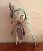 shiny meloetta papercraft by giden445