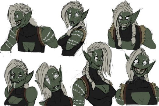 The many faces of Crazy by SurealKatie