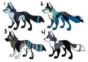 Wolf Adoptables 004 by Romans-Den