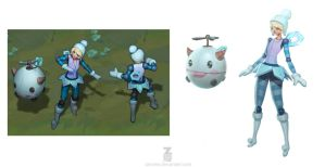 Winter Wonder Orianna Concept Art by ZeroNis