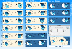 Easy Eye-colouring tutorial by shinjiiru