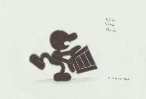 mr game and watch by stefano-roca