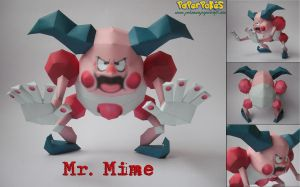 Mr. Mime Papercraft