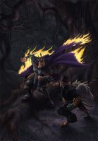 Battle in the Ravelwoods by DionysiaJones