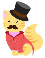 Fancy Mewstache by Jellio