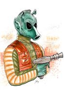 Greedo Watercolor by ArtisticSchmidt