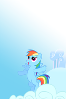 Rainbow Dash Cloud Leap iPod/iPhone Wallpaper by AlphaMuppet