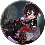 Chibi Hades and Cerberus by Cazuuki