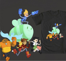 Bravest Warriors Tshirt (VOTE!) by BoukenRed