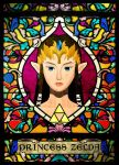 Stained Glass Zelda by ever-so-excited