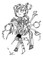 Undertale - Muffet by secondlina