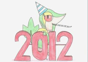 Snivy Says Happy New Year by Gaming98