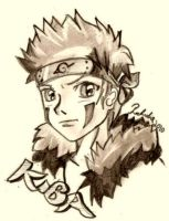 kiba pencil skect by Rubidia