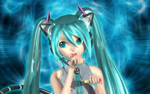 Miku Licks Herself by Primantis