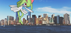 Giantess Kirlia by tonnamprathumtree