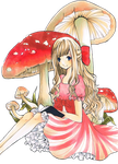 AHAHAHA FLOATING MUSHROOMS by carrot-milk