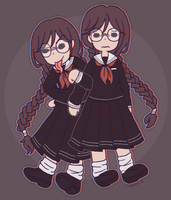 touko and syo by Azurane