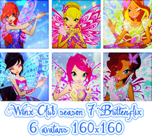 Winx Club season 7 - Butterflix - avatars 160x160 by ChandSharma
