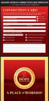 Square Church Connection Card Template by Godserv