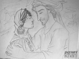 Sunheri Raet and Sabawoon Yousafzai by ArsalanKhanArtist