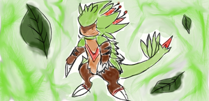 Chespin first evolution by roblee96