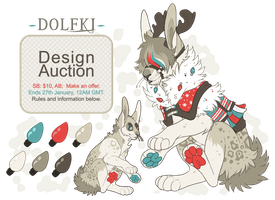 Winter Jackaferret Auction [24 HOURS LEFT!] by Plumbeck