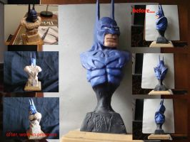 Batman bust redesign by jamesplasencia