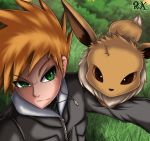 Green and Eevee by FenRox