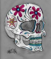 Sugar skull Chrom by Chromone