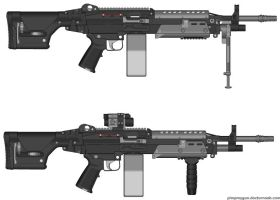Magna Armories 'Hailstorm' Light Machine Gun by ExtendedProject