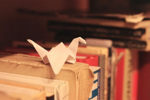 Paper crane by tenlittlebirds