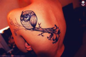 Owl Tattoo by Naseryano