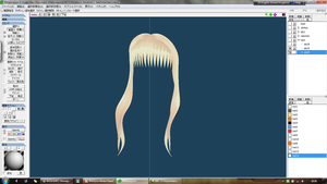 finally texturing SeeU's hair! :D by MMD-MCL