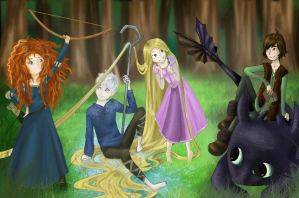 Disney and Dreamworks Characters :D by NijiPL