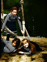 Three Little Grand Duchesses At Play by MissyLynne