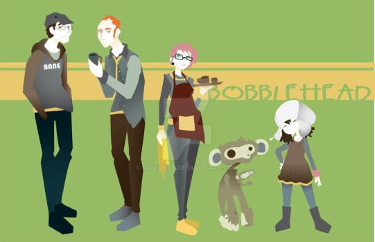 BobbleHead Line Up by Squidlet