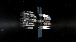 Tylo Expedition Burning for Jool by menalaos1971
