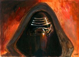 Kylo Ren Star Wars Sketch Card by Stungeon