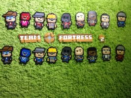 -Perler- Team Fortress 2 (Group) by OtakuLuka