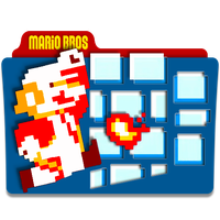 Super Mario Bros Folder Icon by mikromike