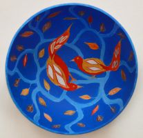 Birds. Painted plate by Ragini123