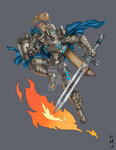 Blue Knight by Leandroton