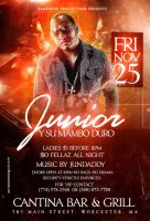junior y su mambo flyer by DeityDesignz