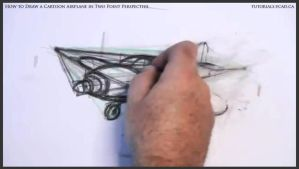 Learn How To Draw A Cartoon Airplane 029 by drawingcourse
