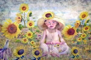 SunFlowers and Love  by LindArtz