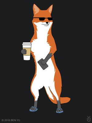 Cool Fox T-shirt by benyuart