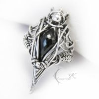 ZUQTUL - silver and black spinel by LUNARIEEN