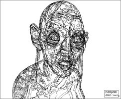 Gollum Outline by I-evermind